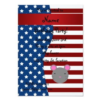 Personalized name Patriotic mouse Invitations