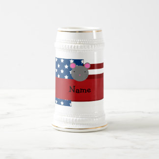 Personalized name Patriotic mouse Coffee Mugs