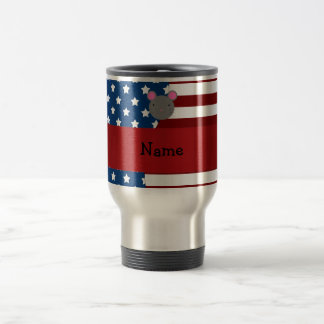 Personalized name Patriotic mouse Mugs