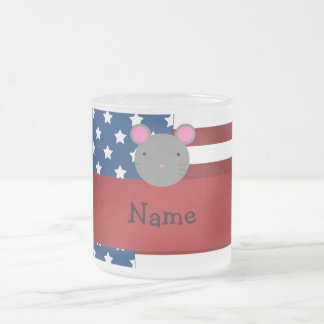 Personalized name Patriotic mouse Mug