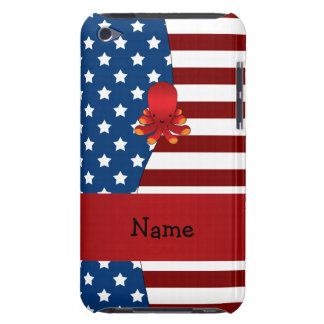 Personalized name Patriotic octopus Case-Mate iPod Touch Case
