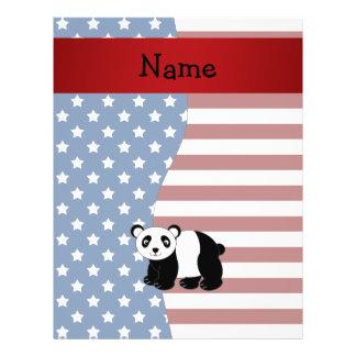 Personalized name Patriotic panda 21.5 Cm X 28 Cm Flyer