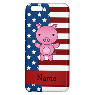 Personalized name Patriotic pig iPhone 5C Covers