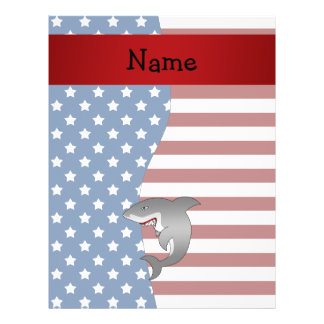 Personalized name Patriotic shark 21.5 Cm X 28 Cm Flyer