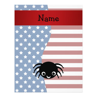 Personalized name Patriotic spider Personalized Flyer