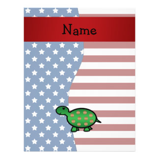Personalized name Patriotic turtle Flyers