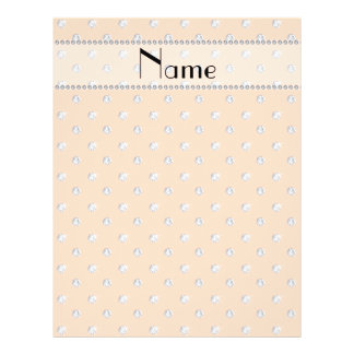 Personalized name peach orange diamonds flyers
