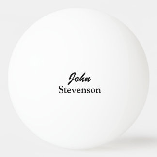 Personalized name ping pong balls for table tennis