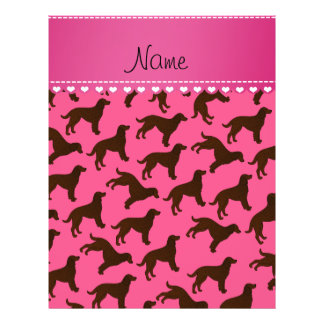 Personalized name pink american water spaniels 21.5 cm x 28 cm flyer