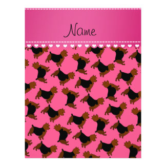 Personalized name pink australian terrier dogs 21.5 cm x 28 cm flyer