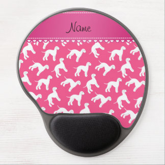 Personalized name pink bedlington terrier dogs gel mouse pad
