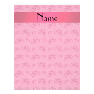 Personalized name pink bicycle pattern 21.5 cm x 28 cm flyer