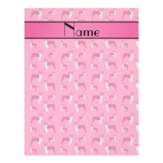 Personalized name pink boston terrier flyer