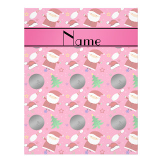 Personalized name pink bowling christmas pattern flyer design
