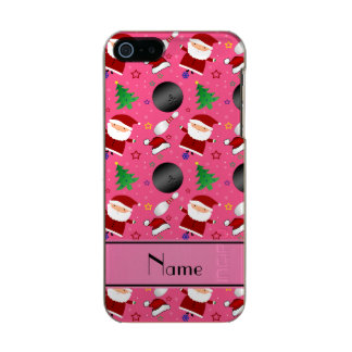 Personalized name pink bowling christmas pattern incipio feather® shine iPhone 5 case
