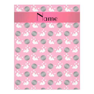 Personalized name pink bowling pattern custom flyer