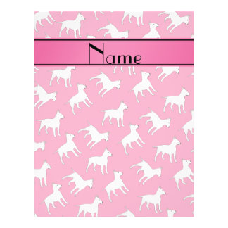 Personalized name pink bull terrier dogs 21.5 cm x 28 cm flyer