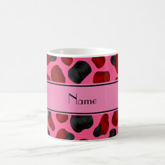 Personalized name pink checkers game coffee mugs