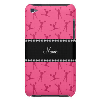 Personalized name pink cheerleader pattern iPod touch case