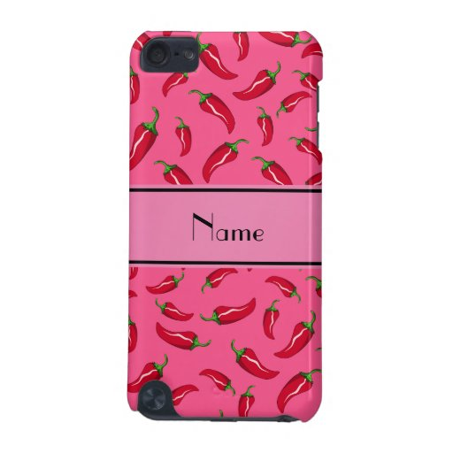 Personalized name pink chili pepper iPod touch 5G cover