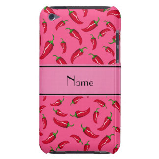 Personalized name pink chili pepper iPod touch case