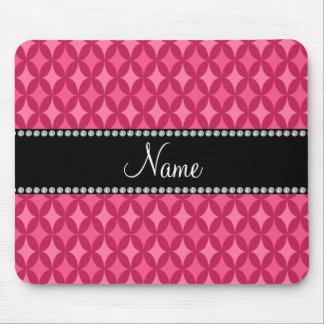 Personalized name pink circle diamond mouse pads