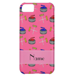 Personalized name pink curling pattern iPhone 5C case