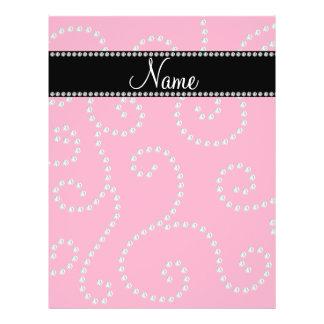 Personalized name pink diamond swirls flyer