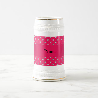 Personalized name pink diamonds beer stein