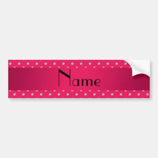 Personalized name pink diamonds bumper stickers