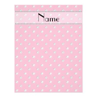 Personalized name pink diamonds custom flyer
