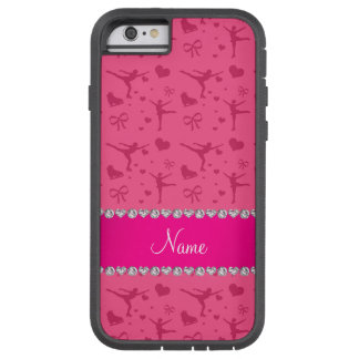 Personalized name pink figure skating tough xtreme iPhone 6 case