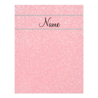 Personalized name pink glitter diamonds flyer design