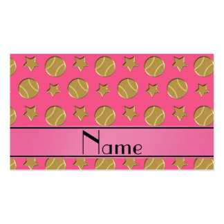 Personalized name pink gold baseballs stars pack of standard business cards