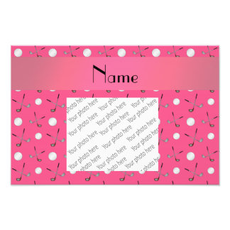 Personalized name pink golf balls photographic print