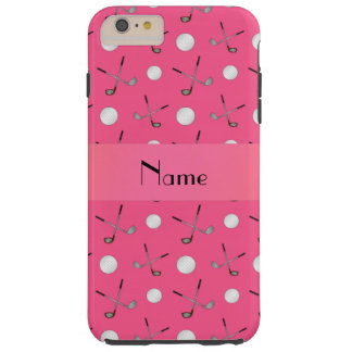 Personalized name pink golf balls tough iPhone 6 plus case