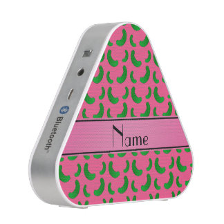Personalized name pink green pickles speaker