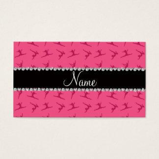 Personalized name pink gymnastics pattern