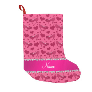 Personalized name pink hearts shoes bows