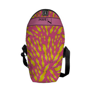 Personalized name pink lightning bolts courier bags