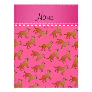 Personalized name pink malinois dogs 21.5 cm x 28 cm flyer