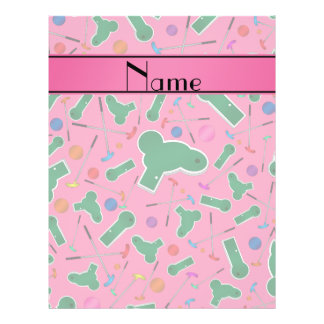 Personalized name pink mini golf full color flyer