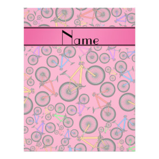 Personalized name pink mountain bikes personalized flyer