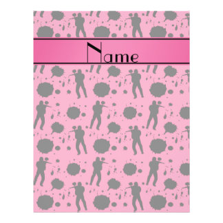 Personalized name pink paintball pattern 21.5 cm x 28 cm flyer