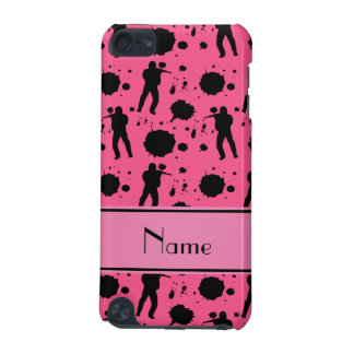 Personalized name pink paintball pattern iPod touch (5th generation) covers