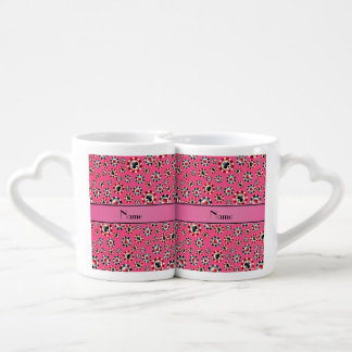 Personalized name pink poker chips lovers mug