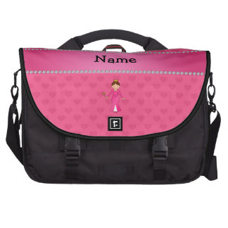 Personalized name pink princess pink hearts commuter bag