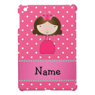 Personalized name pink princess pink polka dots iPad mini covers