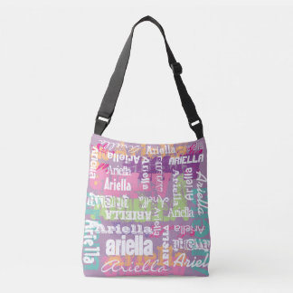 Personalized Name Pink Purple Crossbody Bag