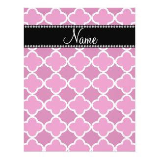 Personalized name pink quatrefoil pattern custom flyer